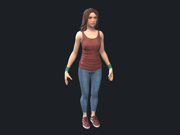 Free Female Character Game Model